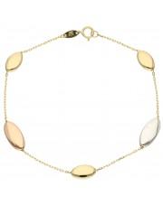 Subtelna złota bransoletka z łezkami