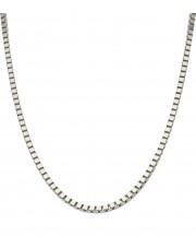 Srebrny łańcuszek kostka 50 cm
