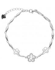 Oryginalna srebrna bransoleta z cyrkoniami