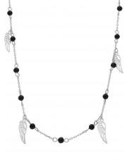 Srebrny naszyjnik z przywieszkami w kształcie skrzydeł