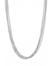 Naszyjnik ze srebrnych łańcuszków