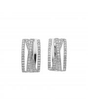 Ażurowe srebrne kolczyki z cyrkoniami