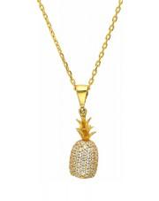 Złota zawieszka ananas