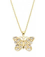 Złota zawieszka motyl