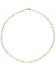 Piękny złoty naszyjnik z białych pereł