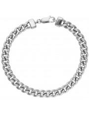 Masywna srebrna bransoleta pancerka 20 cm