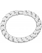 Ciekawa srebrna bransoleta