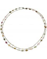 Długi srebrny naszyjnik z turmalinami