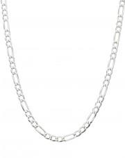 Srebrny łańcuszek figaro 42 cm