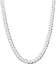Srebrny łańcuszek pancerka 55 cm