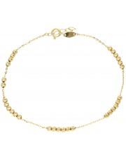 Złota bransoletka z diamentowanymi kulkami