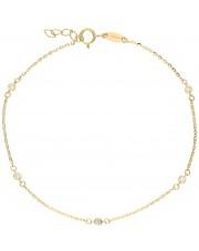 Złota bransoleta z drobnymi cyrkoniami
