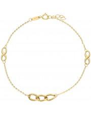 Złota bransoleta ze znakiem nieskończoności