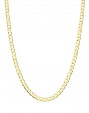 Złoty pełny łańcuszek pancerka 60 cm zlp6003
