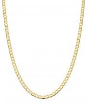 Złoty łańcuszek pancerka 55 cm zlp55025