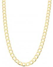 Złoty pełny kuty łańcuszek pancerka 60 cm