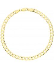 Złota pełna bransoletka pancerka 21cm zbp2105