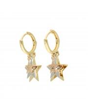 Złote kolczyki z gwiazdami