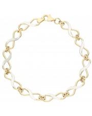Złota bransoleta z nieskończoności