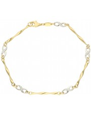 Złota bransoletka z nieskończonością