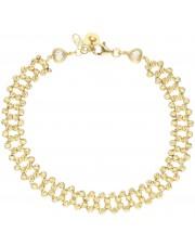 Złota bransoleta z diamentowanych kulek z cyrkoniami