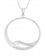 Okrągła srebrna zawieszka