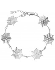 Modułowa bransoleta z motywem pajęczyny