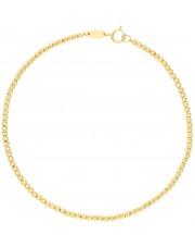 Złota bransoletka z diamentowanych kulek