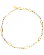 Bransoleta z diamentowanymi kulkami z białego złota