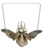 Srebrny naszyjnik Rohatyniec z otwartymi skrzydłami