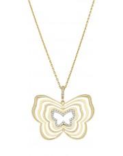 Piękna złota zawieszka motyl