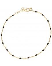 Złota bransoletka z czarnymi elementami