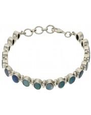 Srebrna bransoletka z niebieskim opalem