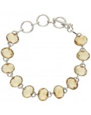 Piękna srebrna bransoletka z cytrynem