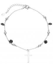 Srebrna bransoletka z krzyżykiem