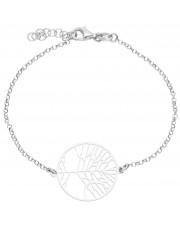 Srebrna bransoletka z drzewkiem szczęścia