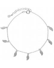 Srebrna bransoleta z przywieszkami w kształcie skrzydła