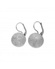 Duże srebrne kolczyki kule