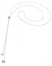 Srebrny naszyjnik z kuleczkami