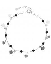 Bransoleta z przywieszkami w kształcie gwiazdek