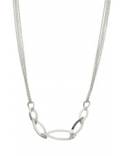 Ciekawy srebrny naszyjnik 45 cm