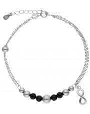 Srebrna bransoleta z przywieszką w kształcie znaku nieskończoności