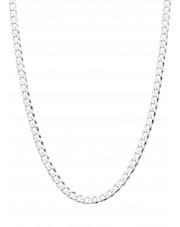 Srebrny łańcuszek pancerka 60 cm
