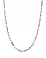 Srebrny pełny łańcuszek kordel 55 cm