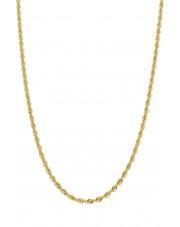 Złoty subtelny łańcuszek kordel 50 cm