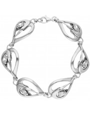 Ażurowa srebrna bransoleta z cyrkoniami