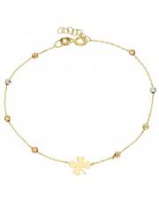 Złota bransoletka z diamentowanymi kuleczkami