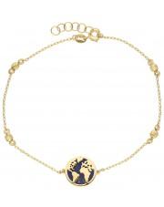 Oryginalna bransoletka z mapą świata