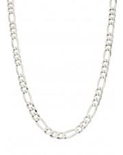 Srebrny łańcuszek figaro 50 cm