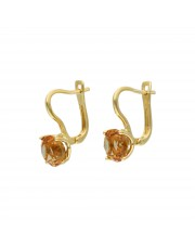 Piękne złote kolczyki z zultanitem